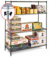 MetroSeal Super Erecta Green Epoxy Wire Shelving Units